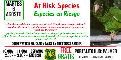 Especies en Riesgo /  Species at Risk entradas