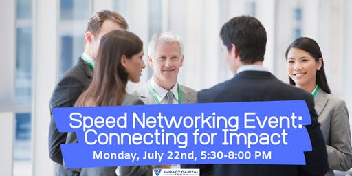 Speed Networking Event: Connecting for Impact