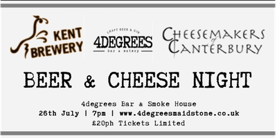 Beer & Cheese Night - With Kent Brewery & Cheese Makers of Canterbury