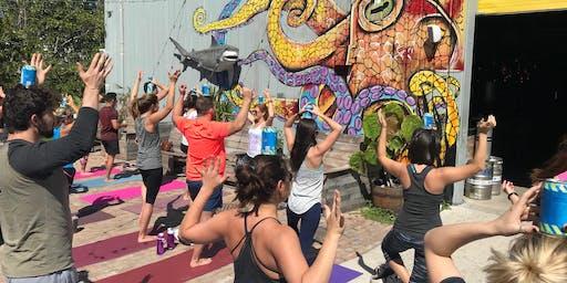 Ales & Asanas - Yoga at LauderAle Anniversary Party