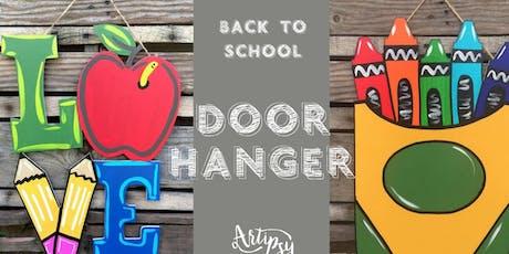 Artipsy Teacher Door Hangers tickets