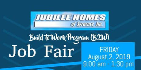 Jubilee Homes Of Syracuse Inc. Build to Work Job Fair @ St. Lucy's Church tickets