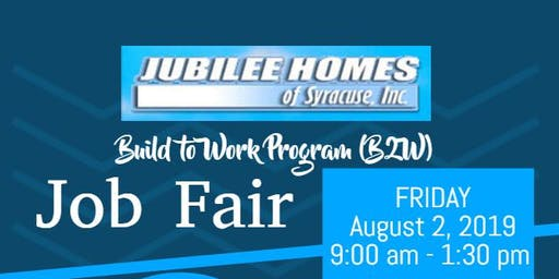 Jubilee Homes Of Syracuse Inc. Build to Work Job Fair @ St. Lucy's Church