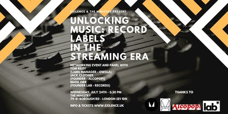 Unlocking Music: Record Labels in the Streaming Era tickets