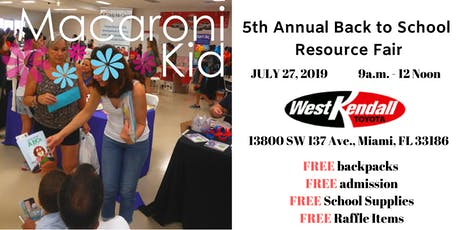 Macaroni Kid 5th Annual Back to School Resource Fair tickets