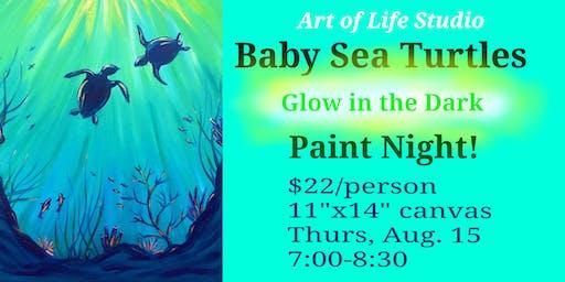 Paint Night: Baby Sea Turtles (Glow in the Dark!)