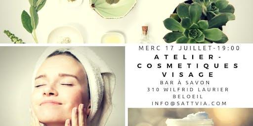 Atelier fabrication de produits cosmétique visage