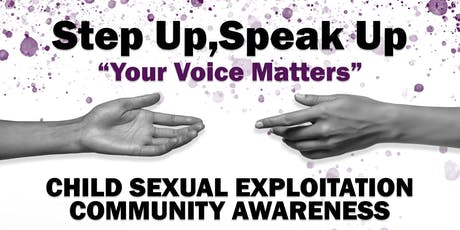 CHILD SEXUAL EXPLOITATION  COMMUNITY AWARENESS tickets