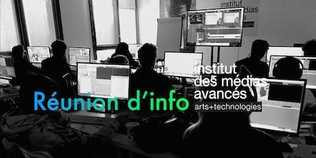 Institut des médias avancés - Lille - Réunion d'information billets