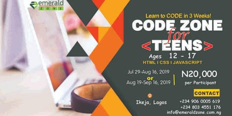 CODE ZONE for TEENS A tickets