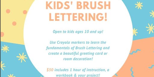 Kids' Brush Lettering Class - Mountain View