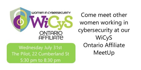 WiCyS Ontario Affiliate July Meetup tickets