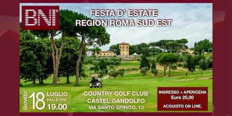 Festa d'estate Apericena BNI Region Roma Sud Est biglietti