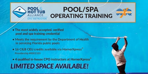 HornerXpress® PHTA Certified Pool/Spa Operator Training (West Palm Beach)