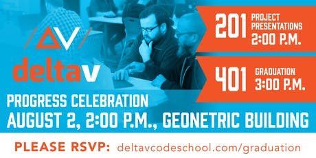 DeltaV Code 201 Project Presentations PLUS 401 Graduation tickets