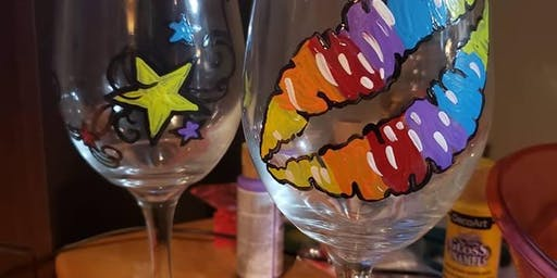 Wine Glass Paint & Sip at Cousins Ale Works