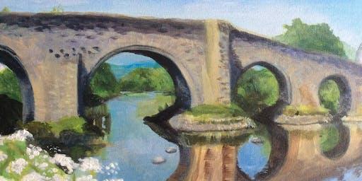 Stirling Bridge Paint n Sip with @blaeberryriverart