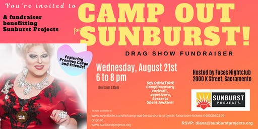 Camp Out For Sunburst Projects Fundraiser