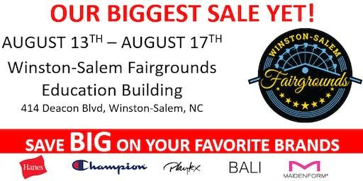 29th Annual Hanesbrands Warehouse Sale