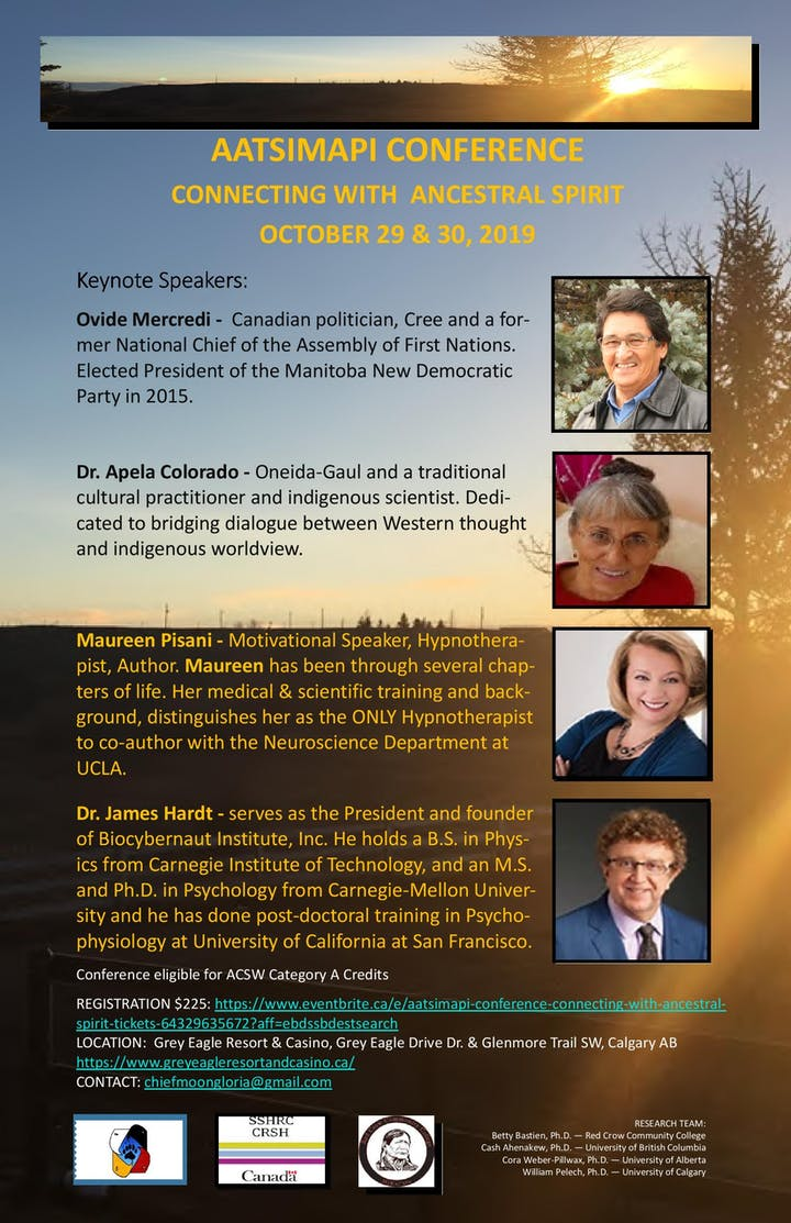 Aatsimapi Conference - Connecting with Ancestral Spirit, Oct  29