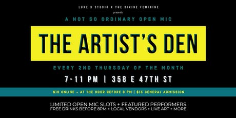 The Artists Den Open Mic tickets