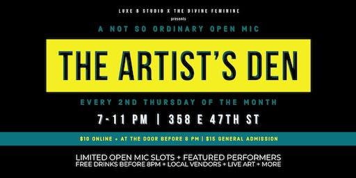 The Artists Den Open Mic