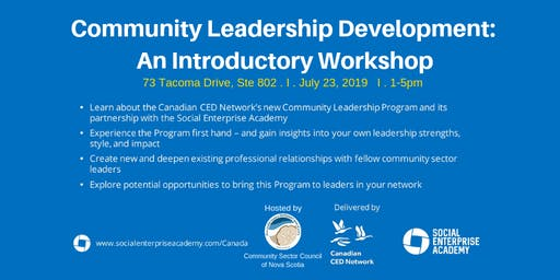Community Leadership Development: An Introductory Workshop