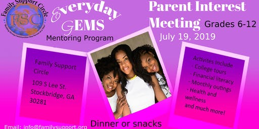 Everyday Gems Interest Meeting