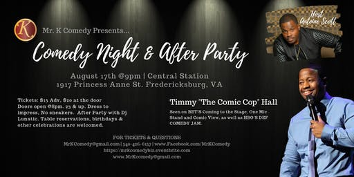 Timmy Hall Comedy Night & After Party