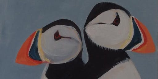 """Puffin"" Family Paint Event"