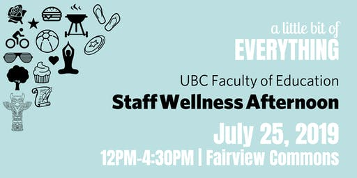 Staff Wellness Afternoon 2019 – RSVP Form
