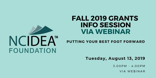 NC IDEA Fall 2019 Grants Information Session via WEBINAR