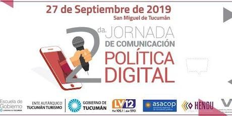2da Jornada en Comunicación Política Digital entradas
