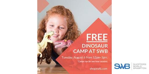 FREE Dinosaur Camp for Kids at Shoppers World Brampton
