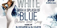 White with A Splash of Blue