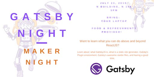 Learning Gatsby and Making a Static Website - Makers Night