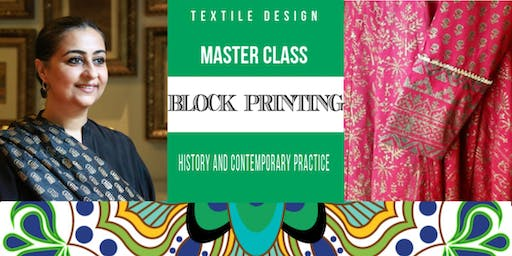 MASTER CLASS: Block Printing Workshop