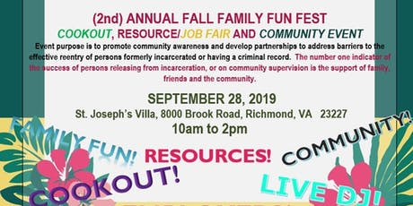 HANOVER/HENRICO RE-ENTRY COUNCIL ANNUAL FALL FAMILY FUN FESTIVAL tickets