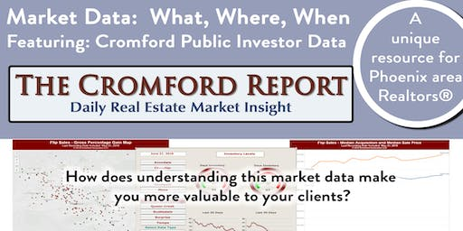 The Cromford Report - Market Data: What? Where? When?
