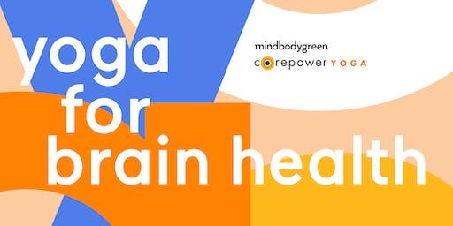 mindbodygreen x CorePower Yoga present Yoga for Brain Health