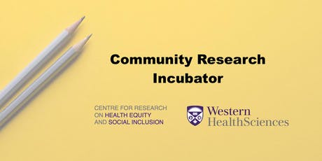 Community Research Incubator tickets