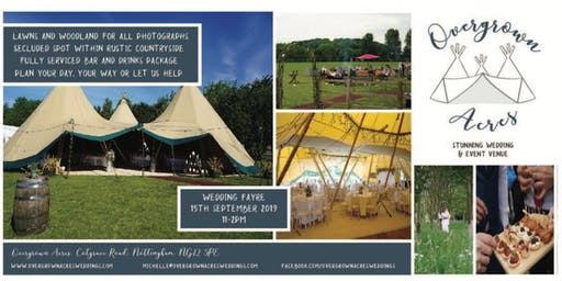 Overgrown Acres Wedding Fayre in South Nottinghamshire Wolds countryside
