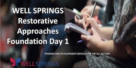 1 Day Foundation Training in Restorative Practice  tickets