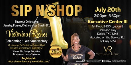 Sip n Shop Hosted By Victorious Riches tickets