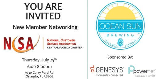 NCSA Takes over Ocean Sun Brewing (New Member Networking)
