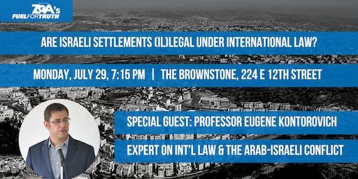 Are Israeli settlements (il)legal under international law?