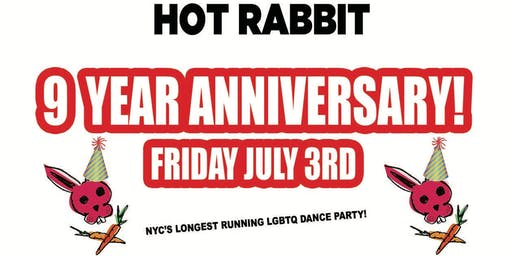 •◊• HOT RABBIT •◊• LGBTQ Dance Party — 9 YEAR ANNIVERSARY!