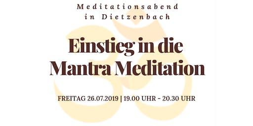 Einstieg in die Mantra Meditation