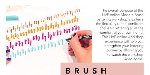 ONLINE LIVE WORKSHOP | Intro to Brush Lettering