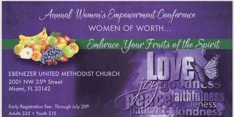 """Women of Worth! Embrace Your Fruits of the Spirit"" Empowerment Conference tickets"